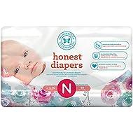 Honest Baby Diapers, Rose Blossom, Size 0 Newborn, 160...