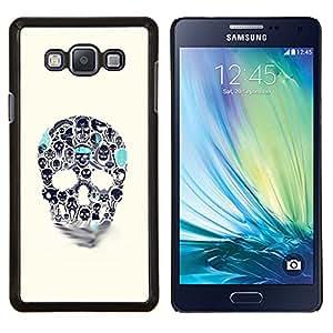 """For Samsung Galaxy A7 ( A7000 ) Case , Azul Beige cráneo del trullo Muerte de tinta del tatuaje"""" - Diseño Patrón Teléfono Caso Cubierta Case Bumper Duro Protección Case Cover Funda"""