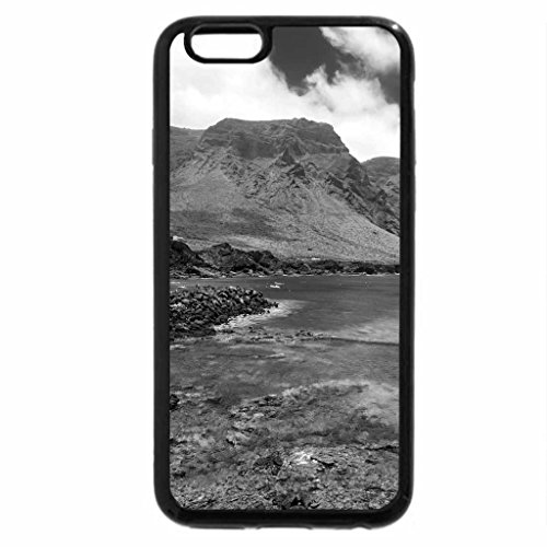 iPhone 6S Case, iPhone 6 Case (Black & White) - fishing on a wonderful rocky shore