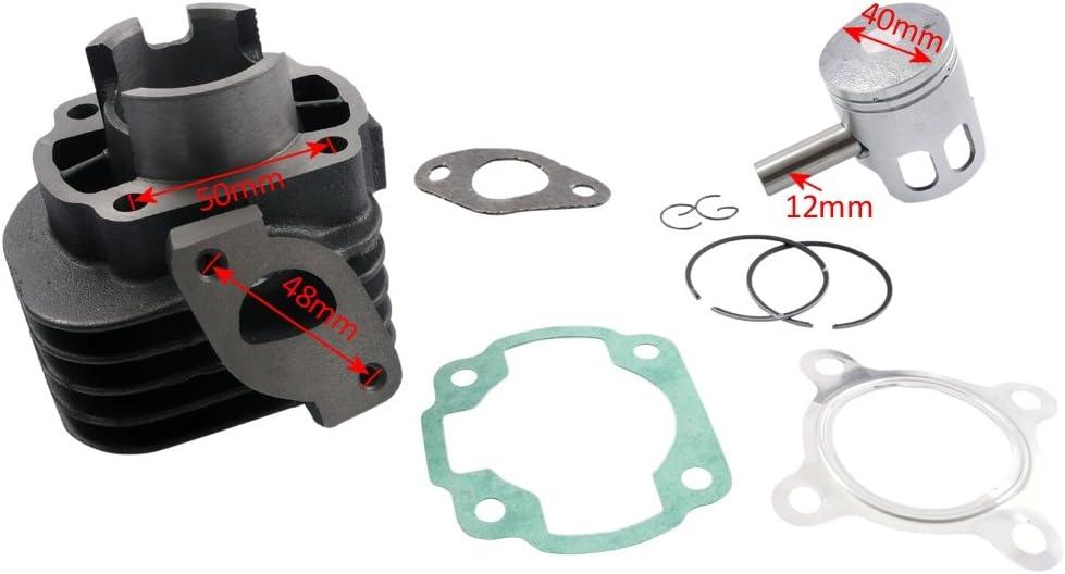 2extreme Zylinder Kolben 50ccm 12mm Kompatibel Für Keeway Ry6 50 Auto