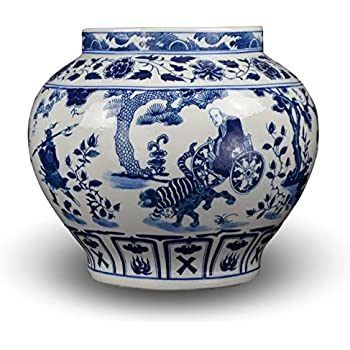 Amazon Classic Asian Blue And White Ceramic Urn 15 Fine