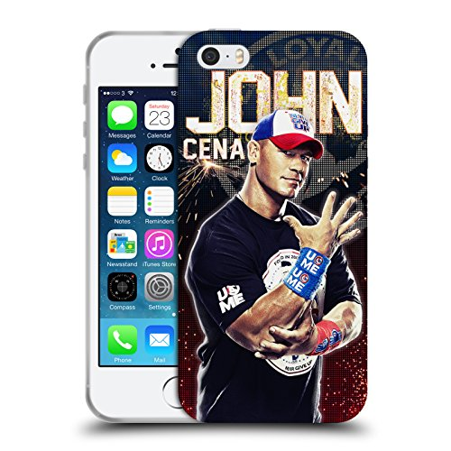 Official WWE John Cena Superstars Soft Gel Case for Apple iPhone 5 iPhone 5s iPhone SE