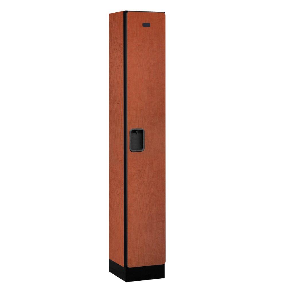 Salsbury Industries Single Tier Designer Wood Locker, Cherry, 6' 1'' x 15''