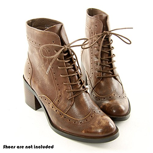 Pair Light Brown Boots For Laces Waxed 2 Mshega Shoe 04 Round Premium Sneakers 7fq1nWPwzW