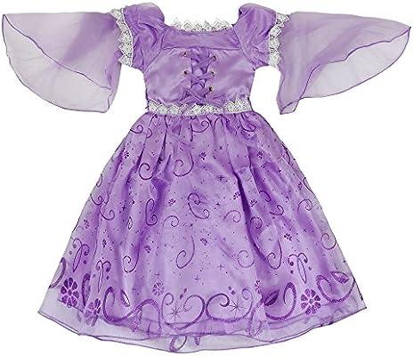 Katara- Rapunzel vestido de traje, Color violeta, 7-8 años (1680 ...