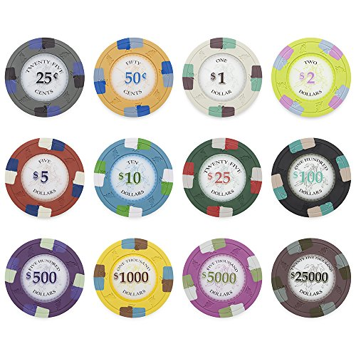 500 Poker Knights 13.5gm Bulk Clay Composite Poker Chips - Choose Chips! by Claysmith