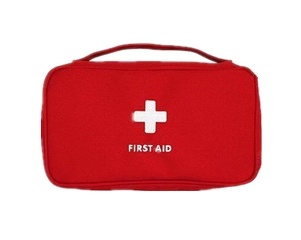 Kit de primeros auxilios Mini Medical Bag Travel portá til paquete de drogas rojo RedColory