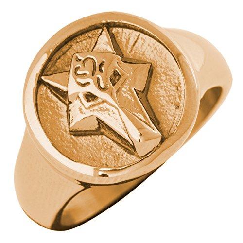 Fox Design Ring Women Men Stainless Steel Minimalist Gold US 9 ()