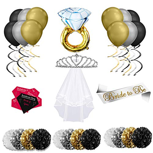 Joli Party - Bachelorette Party Decorations Kit, Bridal