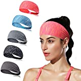 LUCKYGO Workout Headbands for Women Men, Highly...