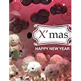SK Wall stickers- Christmas Decoration Wall Stickers Holiday Ornaments Happy New Year , purple