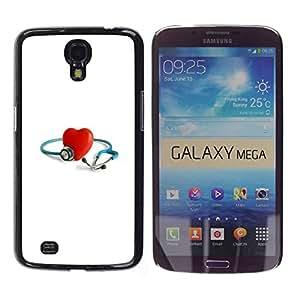 Paccase / SLIM PC / Aliminium Casa Carcasa Funda Case Cover para - Heart Rings Engagement Married - Samsung Galaxy Mega 6.3 I9200 SGH-i527