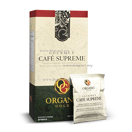 5 Boxes Organo Gold Cafe Supreme 100% Certified Ganoderma Extract Sealed (20 Sachets) by Organo Gold