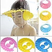 MOSHTU Adjustable Safe Soft Bathing Baby Shower Hair Wash Cap for Children
