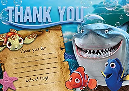 10 X Buscando A Nemo Niños Tarjetas De Agradecimiento
