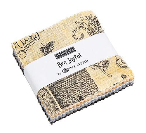 (Bee Joyful Mini Charm Pack by Deb Strain ; 42-2.5 Inch Precut Fabric Quilt Squares )