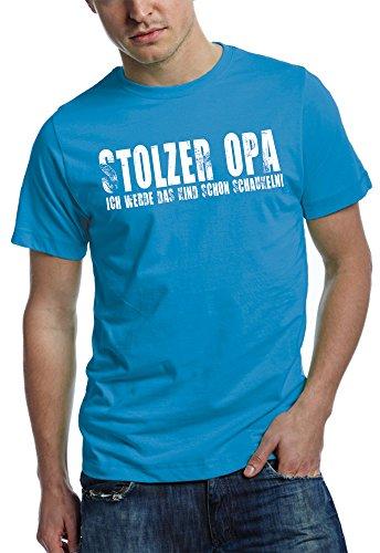 Opa T-Shirt Stolzer OPA - Ich werde das Kind schon schaukeln - vintage print teal L