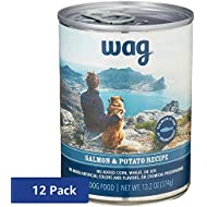 Amazon Brand - Wag Wet Canned Dog Food, Salmon & Potato Recipe, 13.2 oz Can (Pack of 12)
