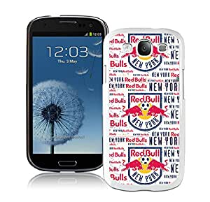 Fashion And Antiskid Cover Case For Samsung Galaxy S3 I9300 With New York Red Bulls White Phone Case 11