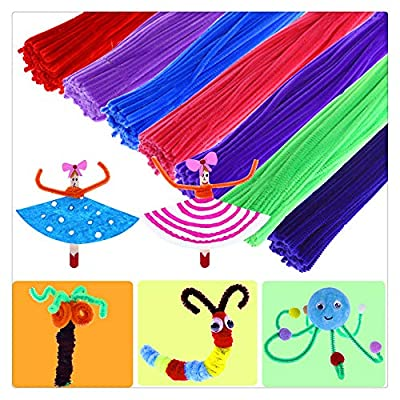 Pipe Cleaners,100 Pieces Pipe Cleaners 14 Colors Chenille Stems for Kids & Adult DIY Art Creative Crafts Decorations (Multicolor, 100 Pcs): Arts, Crafts & Sewing