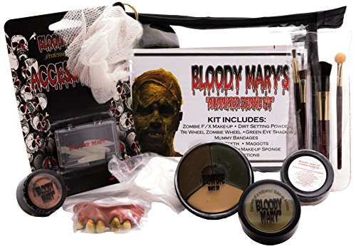 [Bloody Mary Mummified Zombie Professional Undead Makeup Kit] (Special Effects Makeup Kit)