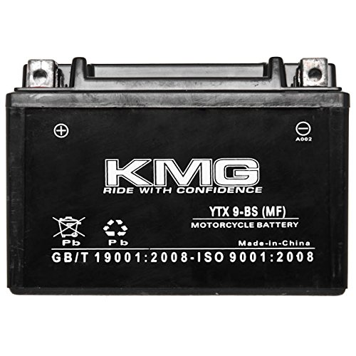 KMG Kawasaki 636 ZX636-B C Ninja ZX-6R 2003-2006 YTX9-BS Sealed Maintenace Free Battery High Performance 12V SMF OEM Replacement Maintenance Free Powersport Motorcycle ATV Scooter Snowmobile KMG
