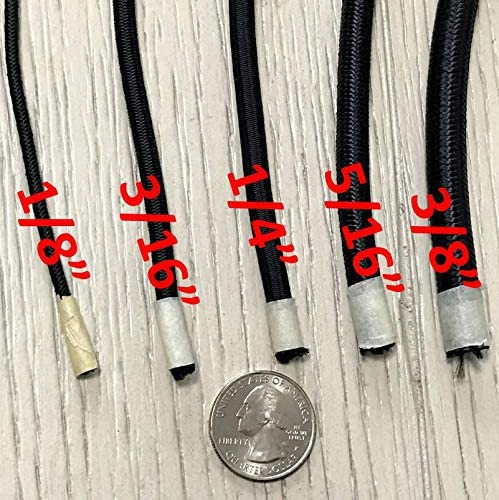 1//4 3//16 Crafting Black Shock Cord 3//8 5//16 50 and 100 Foot Spools DIY Projects Made in The USA Elastic Bungee Cord Used for Tie Downs Weather and Abrasion Resistant 1//8