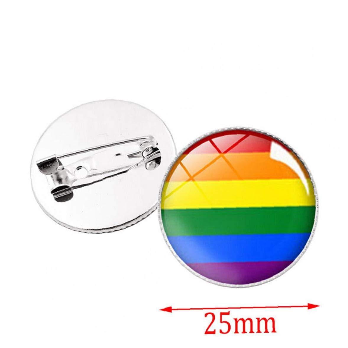 Zonfer Homosexuell Lesbian Pride-Revers-Stifte Regenbogen-Flaggen-Abzeichen Tie Tack Kleidung Dekoration