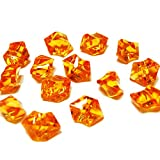 CYS® Vase Filler Acrylic Rocks or Table Scatter, Orange, 1 lbs bag (4 bags), Approximately 640 pcs
