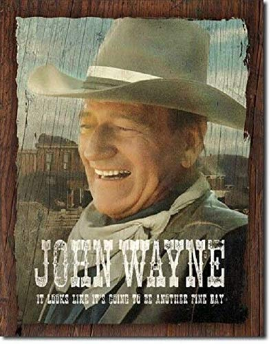 SRongmao John Wayne Fine Day American Legend Western Cowboy Hollywood Metal Tin Sign 8x12in New