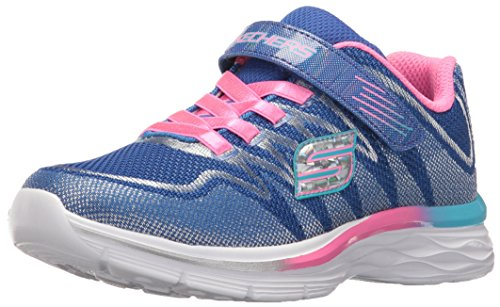 Skechers Kids Girls' Dream N'Dash-Whimsy Sneaker,Blue/Pink,1 M US Little Kid