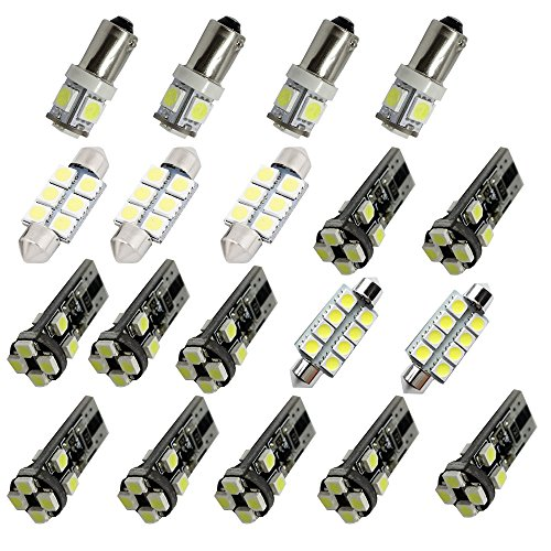 Audi A6 Interior - For Audi A6 S6 C6 Led Interior Lights Led Interior Car Lights Bulbs Kit White 19pcs 2005-2011