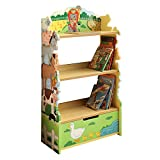 Fantasy Fields - Happy Farm Animals Thematic Kids Wooden Bookcase with Storage | Imagination Inspiring Hand Crafted & Hand Painted Details | Non-Toxic, Lead Free Water-based Paint