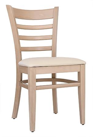 Abritus 2er Set Stuhle Stuhl Esszimmerstuhl Buche Natur Gepolstert