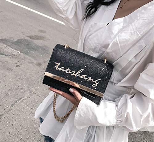 Sac Chaine Sacs Morning À Femme Bandoulière Élégant Shoulder Loisir Mode Besace Noir Sacoche Tendance Hf Épaule Étanche Bags Petit Cuir Shopping 0xtdaIZwq
