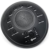 SonTech- White Noise Sound Machine - 10 Natural Soothing Sound Tracks - Multiple Timer Settings - Battery or Adapter Charging Options