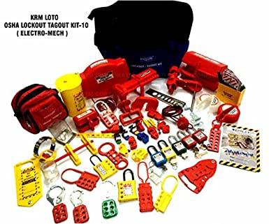 loto osha lockout tag out kit electrical mechanical kit multi colour - Lock Out Tag Out Kits