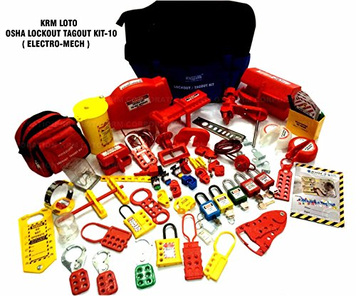LOTO Osha Lockout Tag Out Kit Electrical Mechanical Kit Multi Colour by LOTO