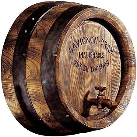 Design Toscano French Vineyard Decor Wine Barrel Wall Sculpture, 12 Inch,  Full Color