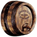 Design Toscano French Vineyard Decor Wine Barrel Wall Sculpture 18 Inch Full Color
