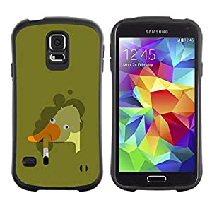 "Hypernova Slim Fit Dual Barniz Protector Caso Case Funda Para Samsung Galaxy S5 [Fumar ganso Arte Malo Pintura""]"