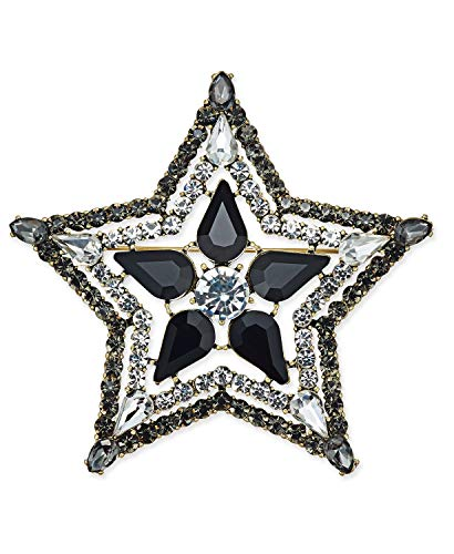 INC International Concepts Anna Sui x I.N.C. Silver-Tone Stone & Crystal Star Pin