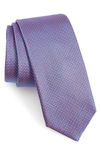 Hugo Boss Textured Woven Italian Silk Tie, Blue 50390089