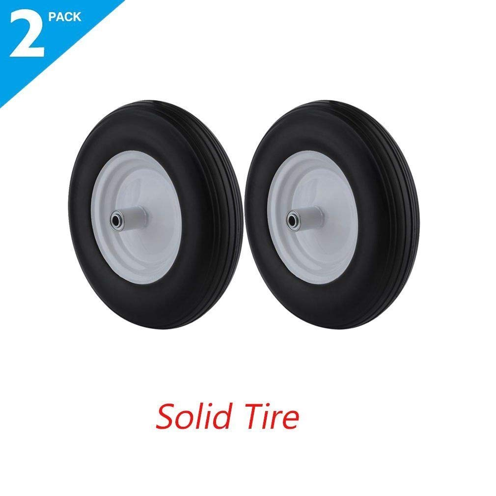 TNPSHOP 2X 16'' Rubber Wheelbarrow Tires Cart Wheel Tyre Solid Tire Replacement Wheel MA by TNPSHOP