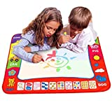 """Ehdching Aqua Magic Water Doodle Mat 4 Color Boys Water Magic Drawing Board 2 Magic Pens Kids Educational Toy with 2 Magic Drawing Pens for Boys Girls Toddlers Kids Children 31.5"""" x 23.6"""""""