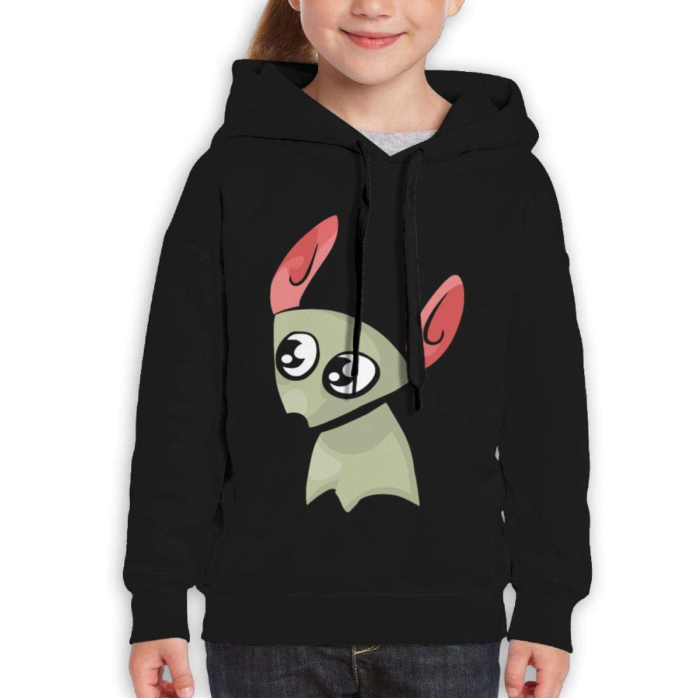 Qiop Nee Kawaii Cute Mouse Kids Hooded Print Long Sleeve Sweatshirt Girls
