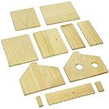 Pinepro 60004 Unfinished Wooden Bird House Kit, Duplex