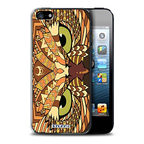 Coque de Stuff4 / Coque pour Apple iPhone 5/5S / Hibou-Orange Design / Motif Animaux Aztec Collection