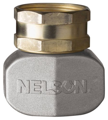 Brass Repair Coupling - 2 Pack - Nelson Brass and Metal Female Hose Clamp Mender - Repair Coupler for Garden Hoses -50521
