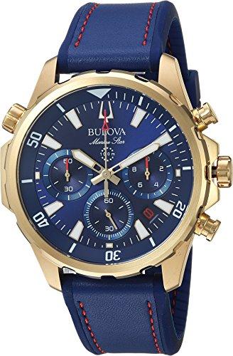 Bulova Men's Marine Star - 97B168 Blue One (Bulova Mens Strap Watch)
